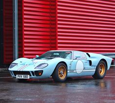 FORD GT40 - Go speed racer, go speed racer, gooooooo.... Just can't help but think about speed racer when I see this car!!!