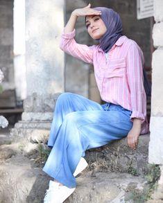atalaraleyna Islamic Fashion, Muslim Fashion, Hijab Fashion, Fashion Dresses, Fashion Styles, Hijab Style, Hijab Chic, Girl Hijab, Hijab Outfit