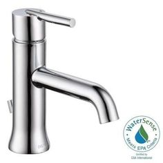 Delta Trinsic Single Hole Single-Handle Mid-Arc Bathroom Faucet in Chrome with Pop-Up-559LF-TP - The Home Depot