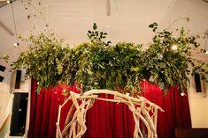 Hanging greenery Paekakariki Kapiti wedding with Drift wood wedding arch