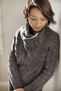"From Jared Flood's Wool People 2, by Veronik Avery.  ""Fuse"" converts from a cardi to a drapey pullover with a clever built-in design feature.  Love!"