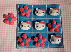 Hello Kitty Tic Tac Toe game set with bag.
