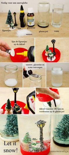 Maak je eigen sneeuwbol.