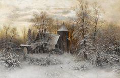 Клевер, Юлий Юльевич (1850-1924), A winter's evening