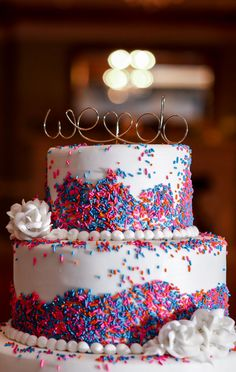 wedding cake with sprinkles 1000 ideas about sprinkle wedding cakes on 26963
