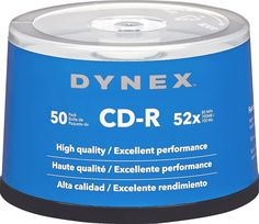 Dynex™ - 50-Pack 52x CD-R Disc Spindle - Silver, DX-CDMR50