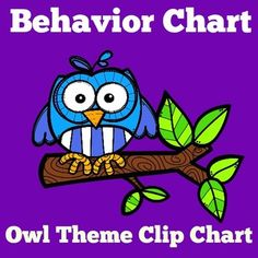 """Behavior Chart :  Your students will love following this easy """"OWL"""" themed behavior chart! Start on """"wonderful white"""" and move up 3 colors or down 3 colors. Set of  7 cards. Perfect as a preschool behavior chart, kindergarten behavior chart or first grade behavior chart!"""