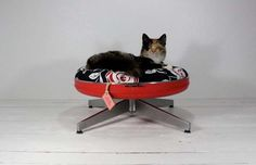 Upcycled pet beds 16 Fresh Start for Vintage Suitcases: Pet Furniture from Atomic Attic