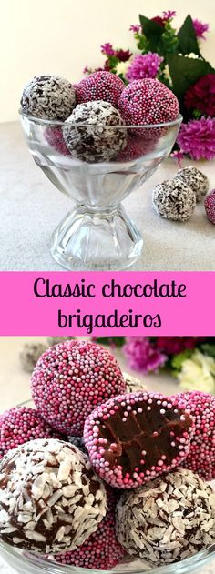 Classic chocolate brigadeiros, the Brazilian bite-size treat with only 4 ingredients. Call them truffles, fudge balls or just brigadeiros, they are so rich and indulgent. A great recipe for Valentine's Day.