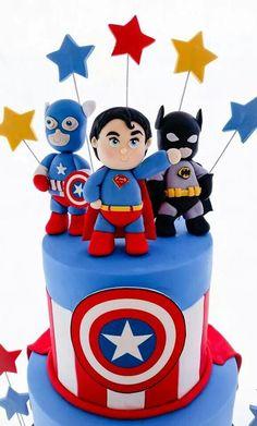 super hero cake for the birthday boy