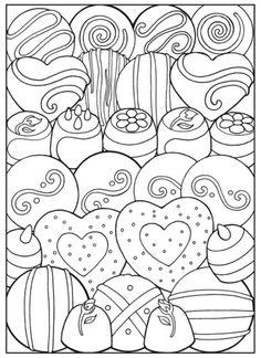 Creative Haven Designer Desserts Coloring Book, Dover Publications