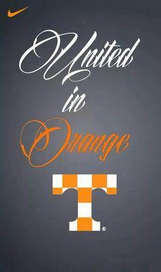 United in orange. Tn Vols Football, Tennessee Volunteers Football, Tennessee Football, College Football Teams, Tennessee Game, Tennessee Girls, State Of Tennessee, Vol Nation, Neyland Stadium
