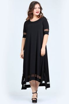 Elbise Siyah VF7009S Curvy Fashion, Plus Size Fashion, Womens Fashion, Casual Dresses, Fashion Dresses, African Traditional Dresses, Mom Dress, Maxi Gowns, Mode Hijab