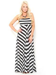 #Chevron #Stripe Maxi #Dress
