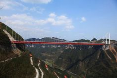 Aizhai Bridge in Hunan, China | World's Highest Tunnel-to-Tunnel Bridge