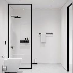 Minimalist Bathroom Furniture, Minimalist Bathroom Design, Bathroom Layout, Modern Bathroom Design, Bathroom Interior Design, Small Bathroom, White Bathrooms, Luxury Bathrooms, Master Bathrooms