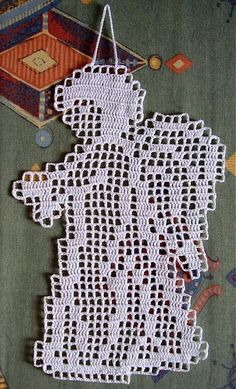 Filetový anjelíček...(Filet crochet angel).