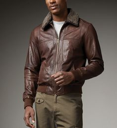 Brown Leather Flight Jacket