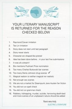 Manuscript Rejection Letter - Writers Write Creative Blog