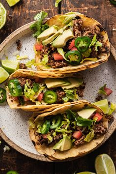 Mushroom walnut taco meat is going to transform your meatless Mexican meals! It's vegan and easy to make with whole food ingredients. #vegan #mexican #tacos