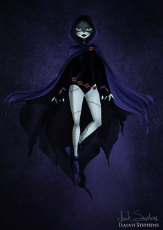 Sally as Raven. | 9 Disney Non-Princesses Dressed As Pop Culture Icons