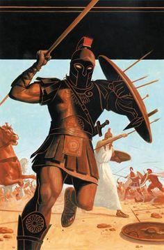 Marvel illustrated Iliad.  Achaean Warriors. Achilles