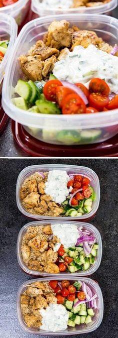 Greek Chicken Bowls | Foodiletto