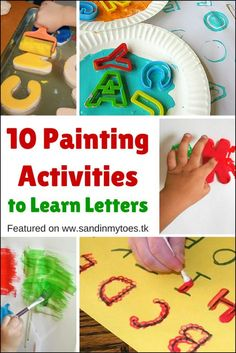 Here are ten fun and creative ideas for kids to learn their letters using paint!