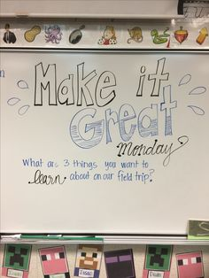 Do week before and use those ?s to make field trip worksheet Journal Topics, Journal Prompts, Morning Board, Monday Morning, Capturing Kids Hearts, Classroom Whiteboard, White Boards, Morning Activities, Morning Meetings