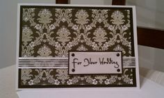 Flocked Wedding Card by Kimholmes on Etsy, $5.00