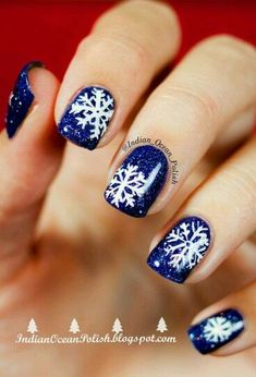 118 Best Snowflake Nail Art And Design Images On Pinterest