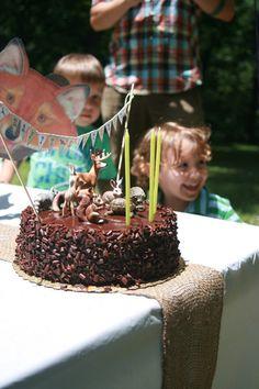 Woodland Forest Animal Cake