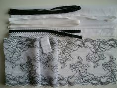 DIY All Lace BRA Kit White & Black by Merckwaerdigh