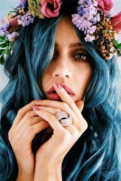 Blue hair... so gorgeous