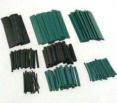 150 PCs 2 Colors 8 Sizes Assorted 2:1 Heat Shrink Tubing Wrap Sleeve Kit Nice