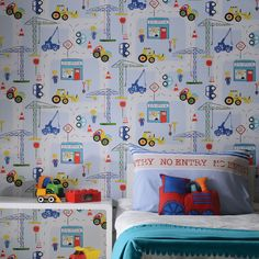Transport And Vehicles Themed Wallpaper Borders Bedroom Feature Wall Decor