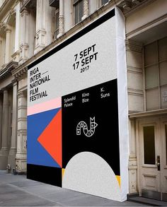 people - have been working on some truly beautiful work for the film festival especially this amazing mural! Wayfinding Signage, Signage Design, Layout Design, Environmental Graphics, Environmental Design, Corporate Design, Graphic Design Typography, Graphic Design Illustration, Typographie Fonts
