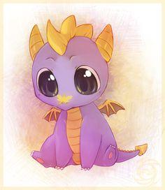 It's Spyro. As a little baby Spyro.    Lookit his WITTLE FACE! Who's a wittle woogie? Who's a woogie? You's a woogie!  D'awwww!
