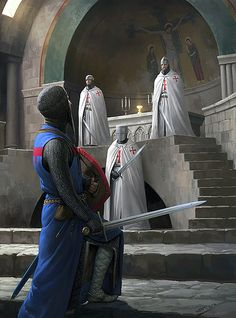 TEMPLARS GUARDING HOLY GRAIL