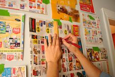 """good tips for hanging an """"art gallery as wallpaper"""" display"""