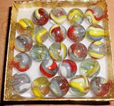 BOXED MISC D.A.S. MARBLES-Dave McCullough-WEST VIRGINIA- BOX 8 #DAS #Glass