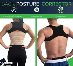 VistaHue Exclusive Posture Corrector and Upper Back Brace | For men and women