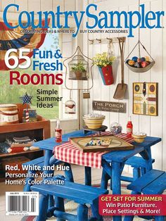 Relax and enjoy country decorating ideas and inspiration in Country Sampler magazine. Country Living, Country Decor, Country Style, Country Blue, Farmhouse Decor, Country Sampler Magazine, Country Primitive, Primitive Decor, Red Cottage