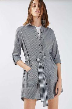 Gingham Mix Match Shirt Dress - Workwear - Clothing - Topshop USA