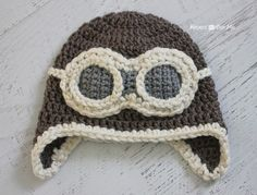 Repeat Crafter Me: Crochet Aviator Hat Pattern: