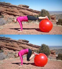 Ćwiczenie na piłce stabilizującej VI a
