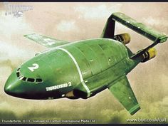 Thunderbird 2 didn't actually go into space; that was Thunderbirds 2 & 5's job. Still this is the Thunderbird that epitomized the show for us. This was the one we all had a Dinky toy version of.