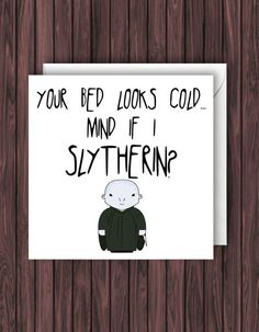 "A (dirty) ""Can I Slytherin?"" card 