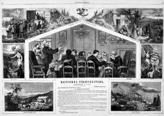 National Thanksgiving. Thomas Nast, December 9, 1865, issue of Harper's Weekly. | In the Swan's Shadow