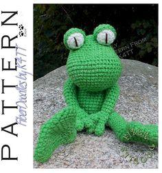 INSTANT DOWNLOAD : KISS Series  Frog Crochet by FiberDoodlesbyK4TT